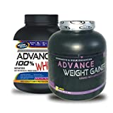 ADVANCE 100% WHEY 1kg Chocolate& Weight Gainer 1KG BANANA (Combo Offer)