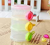 #8: Rikang Three - Layered Transparent Color Plastic Baby Milk Food Powder Storage Case