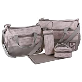 Ecosusi 5 in 1 Bear Diaper Tote Bag (sage) by Ecosusi (English Manual)