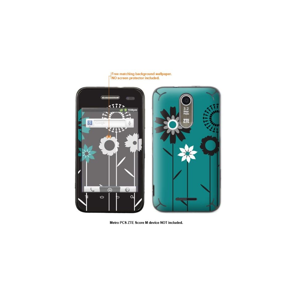 Protective Decal Skin Sticker for Metro PCS ZTE Score M case cover ZTEscoreM 259