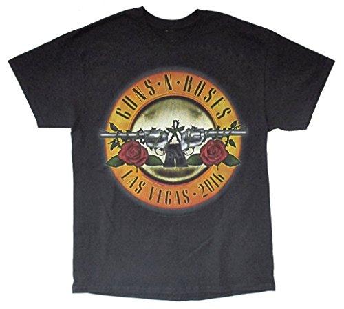 Guns N Roses Las Vegas 2016 Event Tour Men's Black T Shirt (2X) (Las Vegas Merchandise compare prices)