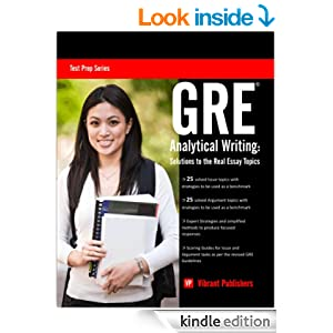 Amazon.com: GRE Analytical Writing: Solutions to the Real Essay Topics ...