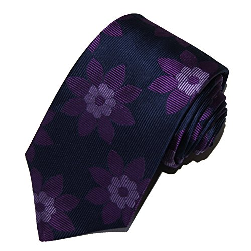 turnbull-asser-mens-100-jacquard-silk-neck-tie-necktie-floral-navy-blue-purple-lilac