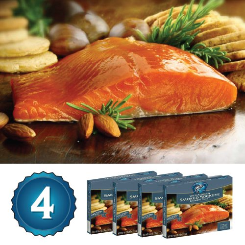 Alaska Smoked Salmon - Copper River Seafoods, Inc. - 4 Pack Gift Set - Alaska Smoked Sockeye Salmon (4 oz. Each - 16 oz. Total)