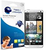 Tech Armor HTC One Premium Anti-Glare/Anti-Fingerprint Screen Protector with Lifetime Replacement Warranty [3-Pack]
