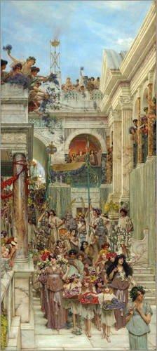 Poster 50 x 110 cm: Spring di Lawrence Alma-Tadema / Bridgeman Images - stampa artistica professionale, nuovo poster artistico