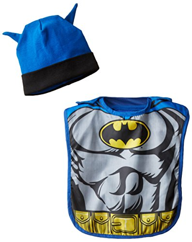 Baby-Boys Infant Batman Chest Caped Bib and Hat Set