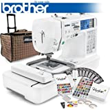 Brother LB-6800PRW Project Runway Computerized Sewing Embroidery Machine w/ USB Port and Grand Slam II Package Includes 65 Embroidery Threads with Snap Spools + Prewound Bobbins + Cap Hoop + Stabilizer + 15,000 Embroidery Designs + Scissors ($1,170 Value)