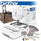 Brother LB-6800PRW Project Runway Computerized Sewing Embroidery Machine w/ USB Port and Grand Slam II Package Includes 65 Embroidery Threads with Snap Spools + Prewound Bobbins + Cap Hoop + Stabilizer + 15