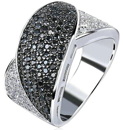 Custom-RingeAdisaer-Vergoldet-Damen-Ringe-in-Gold-Eheringe-mit-Gravur-Zirkonia-Verlobungsring-Diamant-Bltenblatt-Gre-62-197-Schwarz