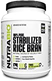 NutraBio Stabilized Rice Bran (600 Grams - Unflavored Powder)