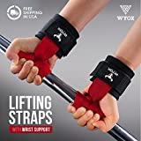 Wyox Weightlifting Bar Straps With Wrist Support Cross fit Gym Power lifting