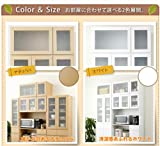 食器棚 上置き棚 スッキリとしたナチュラルデザインで、使う場所を選びません。90cm幅ホワイト