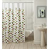 "@home Tulip Shower Curtain - 70""x78"", Green/White and Blue"