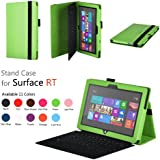 Elsse (TM) Premium Folio Case with Stand for Microsoft Surface Windows 8 RT (Does not fit Windows 8 Pro Version) - White (Surface RT, Green)