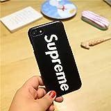 Supreme シュプリーム iPhone7 おしゃれ携帯カバー iPhone7plus ケース 兼用ケース 英字 耐衝撃 超軽量 高品質 スマホカバー スマホケース iPhoneケース (iPhone7 2色選択) (iphone 7, ブラック)