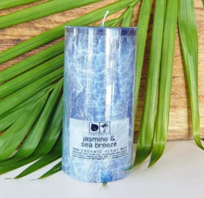 Heaven Scent Scented Pillar Candle 100 Hours - Jasmine Sea Breeze by Heaven Scent