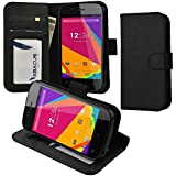 BLU Advance 4.0 A270a Case, Abacus24-7 BLU Advance 4.0 Wallet Case with Flip Cover, Stand and Pockets for ID, Credit Cards - Black BLU Advance 4.0 A270a Flip Case