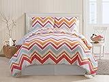 Victoria Classics Lake Tahoe 3-Piece Cotton Comforter Set, King, Red
