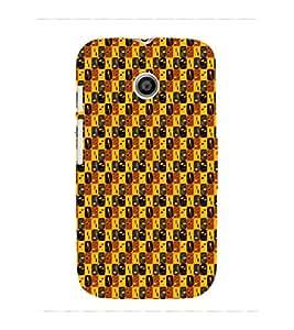 Fuson Premium Printed Hard Plastic Back Case Cover for Motorola Moto E 2nd gen