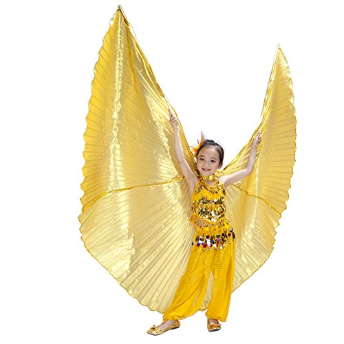Dance Fairy Kids' golden opaque belly dance isis wings costumes