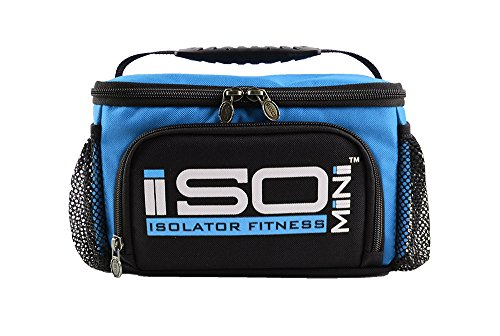 IsoMini Meal Management System - Light Blue/Black - Insulated Lunch Box / Insulated Lunch Bag - Isolator Fitness - 1