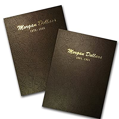 1878 - 1921 95-Coin Morgan Dollar Set (2 Dansco Albums) Very Good