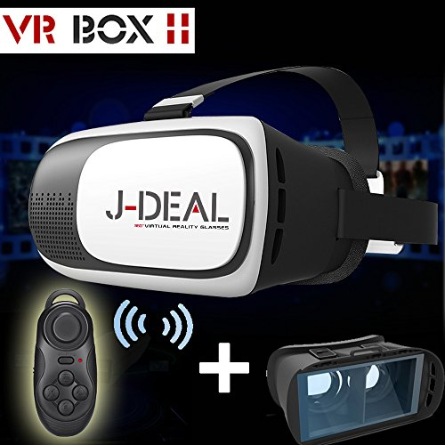 SEGURO® Upgrade Version Video Movie Game Virtual Reality 3D Glasses / Headset + a bluetooth controller
