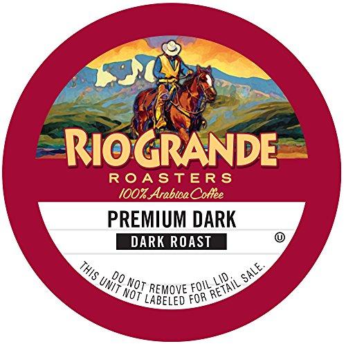Rio Grande Roasters Premium Dark, Dark Roast Single Serve K-Cup, 12 Count
