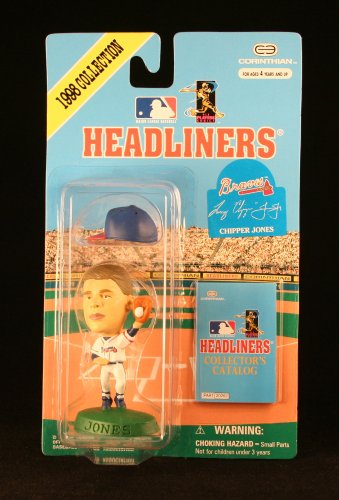 CHIPPER JONES / ATLANTA BRAVES * 3 INCH * 1998 MLB Headliners Baseball Collector Figure - 1
