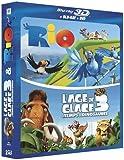 echange, troc Rio + L'Age de glace 3 - Blu-ray 3D active [Blu-ray]