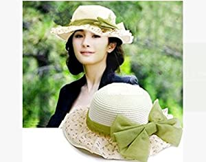 Come On,Baby 1Piece New Summer Women Ladies Wide Brim Floppy Fold Multicolor UV Protection Sun Sunscreen Straw Hat Beach Cap Suitable For Outdoor Traveling Camping Fishing(Floral)
