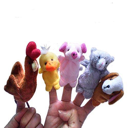 Storytelling the Little Red Hen Finger Puppet 5pc - 1