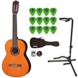 Yamaha C40 Gigmaker Classic Guitar Bundle with Padded Bag,Digital Tuner,Stand,Picks and Starter DVD