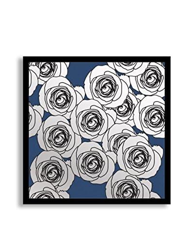 Gallery Direct Blue Flourish III Print on Mirror, Multi, 16 x 16