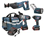 Bosch CLPK41-180 18-Volt 4-Tool Litheon Combo Kit