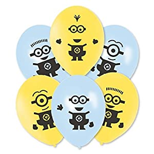 5 X Amscan International 27 cm Minions Latex Balloons