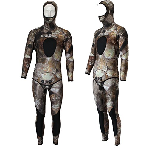 size 2x large 3mm new camo neoprene spearfishing wetsuit diving suit top rated scuba geartop. Black Bedroom Furniture Sets. Home Design Ideas