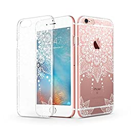 iPhone 6 / 6s Case, iPhone 6 Clear Case, MOSNOVO White Totem Henna Mandala Lace Clear Design Transparent Plastic Hard Back Cover for iPhone 6 4.7 Inch