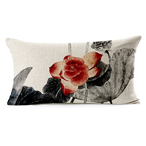 top lotus red cushion cover deals at meetsale