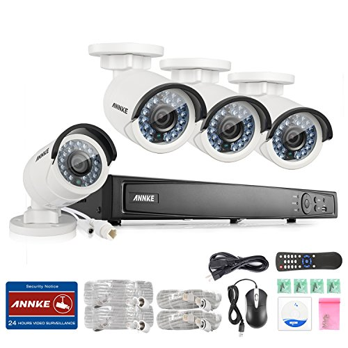 Review ANNKE 8CH 1080P POE Security Camera System 4x HD 1080P Security Camera Weatherproof IP66 No H...