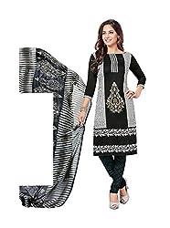 RK Fashion Womens Chiffon Un-Stitched Salwar Suit Dupatta Material ( Rajguru-Rimzim-9047-Black-Free Size )