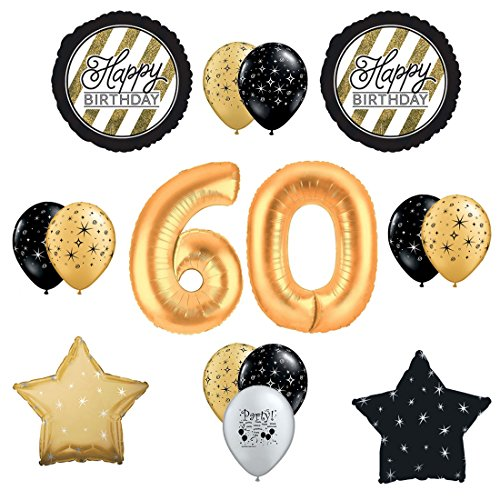 Sparkling 60th Birthday Celebration Balloon Decorating Kit