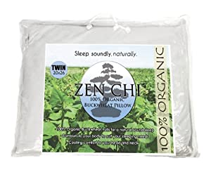 "Zen Chi Buckwheat Pillow - Zen Chi 100% Organic Premium Buckwheat Pillow - Twin Size (20"" X 26"") at Sears.com"