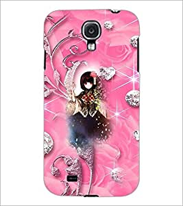 PrintDhaba Cute Girl D-4142 Back Case Cover for SAMSUNG GALAXY S4 (Multi-Coloured)