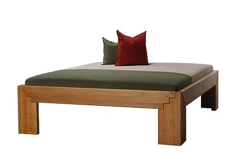 Massivholzbett Beta50 Erle natur geölt metallfrei Komforthöhe, Größe:180 x 200 cm
