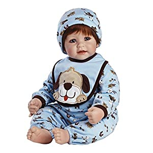 "Adora Baby Boy 20 Inch Doll Woof Dog Patterned ""Removable & Washable Pajamas, Bib and Hoodie"", Red Hair / Blue Eyes - Ages 6+"