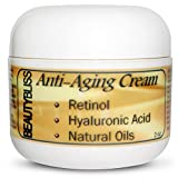 Beautybliss Face Cream - Retinol Cream for Your Face and Neck - Best Night Anti Wrinkle Anti Aging Cream with Retinol, Hyaluronic Acid, Caffeine, Natural Oils (Olive Oil, Avocado Oil, Sesame Seed Oil), Green Tea Extract, Grapeseed Extract, Vitamin E, Vitamin B, Shea Butter - Fragrance Free Facial Moisturizer - Decreases Signs of Aging Such As Fine Lines and Wrinkles - Dramatically Improves Skin Tone and Elasticity - Moisturizes - Increaes Collagen Production - Hydrates - Repairs Skin - Firms - Rejuvinates - Ideal for All Skin Types (Oily, Dry, Sensitive Skin) - Made in USA - 100% Money Back Guarantee