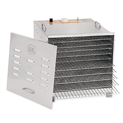 Stainless Steel 10 Tray Dehydrator With Chrome Plated Trays from LEM