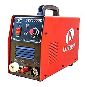 Lotos LTP5000D 50Amp Non-Touch Pilot Arc Plasma Cutter, Dual Voltage 110V/220V, 1/2 Inch Clean Cut by Lotos Technology by Lotos Technology